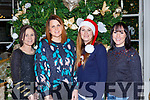 Deirdre Cahill, Kate mcGrath, Aisling O'Connor and Ciara Croacher at the Focus Ireland Christmas party in the Great Southern Hotel on Saturday