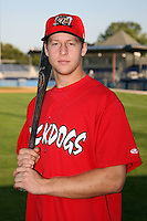 September 5, 2009:  Outfielder Kyle Conley of the Batavia Muckdogs before a game at Dwyer Stadium in Batavia, NY.  The Muckdogs are the Short-Season Class-A affiliate of the St. Louis Cardinals.  Photo By Mike Janes/Four Seam Images