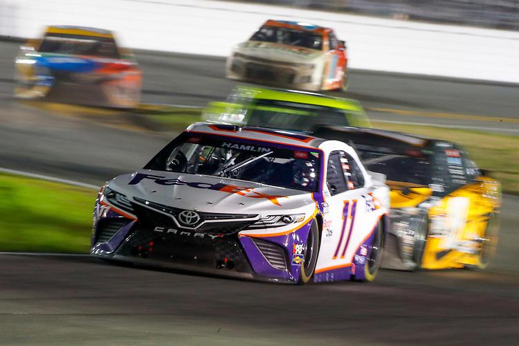 #11: Denny Hamlin, Joe Gibbs Racing, Toyota Camry FedEx Express, #19: Martin Truex Jr., Joe Gibbs Racing, Toyota Camry DeWalt