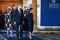 OVIEDO, SPAIN - October 16: **NO SPAIN**  King Felipe and Queen Letizia of Spain at the Princess of Asturias awards 2020 at the Reconquista hotel in Oviedo, Spain on the 16th of October of 2020.. <br /> CAP/MPI/RJO<br /> ©RJO/MPI/Capital Pictures
