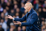 Manager Zinedine Zidane of Real Madrid in action during the UEFA Champions League 2017-18 quarter-finals (2nd leg) match between Real Madrid and Juventus at Estadio Santiago Bernabeu on 11 April 2018 in Madrid, Spain. Photo by Diego Souto / Power Sport Images