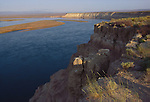 The Hanford Reach National Monument, Columbia River, The White Bluffs, Wahluke Slope, shrub-steppe grassland, Eastern Washington State Pacific Northwest, Once Hanford Nuclear Reservation, located near Tri Cities area