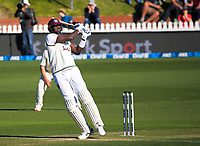 Windies captain Jason Holder hits a four during day two of the second International Test Cricket match between the New Zealand Black Caps and West Indies at the Basin Reserve in Wellington, New Zealand on Friday, 11 December 2020. Photo: Dave Lintott / lintottphoto.co.nz