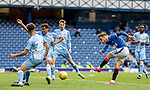 25.07.2020 Rangers v Coventry City: Brandon Barker has a dig