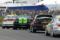 Round 3 of the 2004 British Touring Car Championship. Race action.