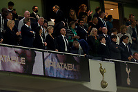 26th August 2021; Tottenham Hotspur Stadium, London, England; Europa Conference League football, Tottenham Hotspur versus Paços de Ferreira; Chairman of Tottenham Hotspur Daniel Levy watches his team thanking the fans at the final whistle
