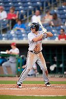 Florida Fire Frogs right fielder Garrison Schwartz (16) at bat during a game against the Clearwater Threshers on June 1, 2018 at Spectrum Field in Clearwater, Florida.  Florida defeated Clearwater 12-10.  (Mike Janes/Four Seam Images)