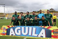 BOGOTA -COLOMBIA, 16-04-2017.Team of Equidad. Action game between Equidad and Tigres  during match for the date 13 of the Aguila League I 2017 played atMetroplitano de Techo  stadium . Photo:VizzorImage / Felipe Caicedo  / Staff