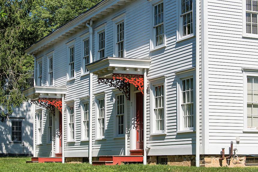 Worker housing, historic Smithville industrial park, Burlington County, New Jersey, USA