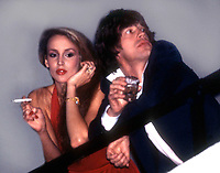 New York, NY<br /> 1978 FILE PHOTO<br /> Jerry Hall Mick Jagger at Studio 54<br /> Photo by Adam Scull-PHOTOlink.net