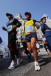 Feb. 27, 2011 - Tokyo, Japan - Participants in the Tokyo Marathon race through the Ginza district part of town. (Photo by Daiju Kitamura/AFLO SPORT)