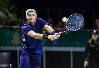 Rotterdam, Netherlands, 10 februari, 2018, Ahoy, Tennis, ABNAMROWTT, Qalifying, Uladzimir Ignatik <br /> Photo: Henk Koster/tennisimages.com