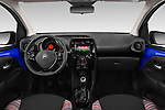 Stock photo of straight dashboard view of a 2018 Citroen C1 Airscape Shine 5 Door Hatchback