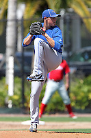 Toronto Blue Jays Aaron Sanchez #37 during a minor league spring training game against the Philadelphia Phillies at the Carpenter Complex on March 16, 2012 in Clearwater, Florida.  (Mike Janes/Four Seam Images)