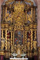 Altar im Kloster Bronnbach bei Wertheim, Baden-Württemberg, Deutschland