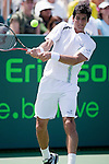 03-30: Sony Ericsson Open fourth round match between Nicolas Almagro #26 seed defeats Thomas Bellucci #28 seed three sets 6-4, 3-6, 7-6(3)