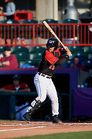 Erie SeaWolves Chace Numata (25) at bat during an Eastern League game against the Altoona Curve on June 3, 2019 at UPMC Park in Erie, Pennsylvania.  Altoona defeated Erie 9-8.  (Mike Janes/Four Seam Images)