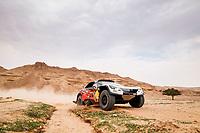 7th January 2021; Riyadh to Buraydah, Saudi Arabia; Dakar Rally, stage 5;  314 Despres Cyril (fra), Horn Mike (swi), Peugeot, PH Sport, Abu Dhabi Racing, Auto, action during the 5th stage of the Dakar 2021 between Riyadh and Buraydah, in Saudi Arabia on January 7, 2021