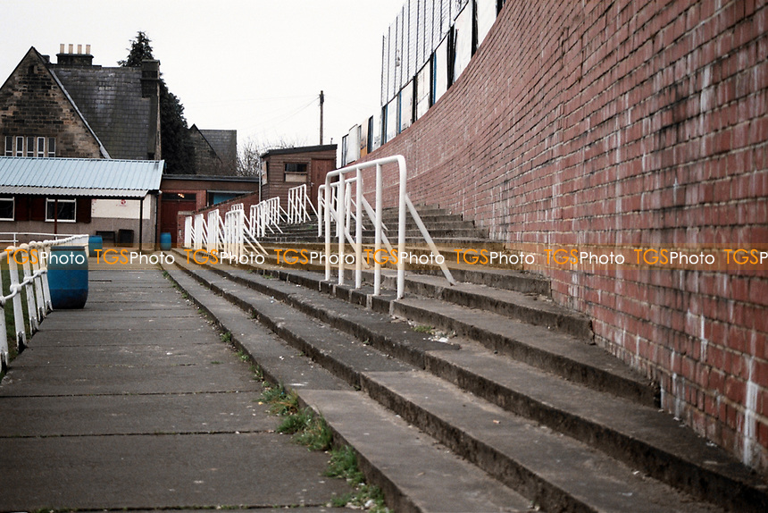 Terracing at Bishop Auckland FC Football Ground, Kingsway, Bishop Auckland, County Durham, County Durham, pictured on 7th April 1996