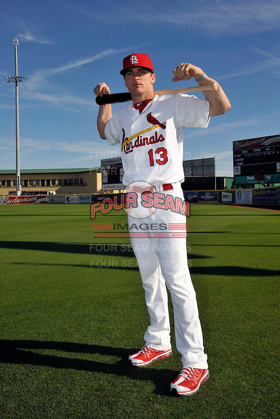 Mar 01, 2010; Jupiter, FL, USA; St. Louis Cardinals infielder Brendan Ryan (13) during  photoday at Roger Dean Stadium. Mandatory Credit: Tomasso De Rosa/ Four Seam Images