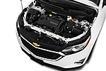 Car stock 2020 Chevrolet Equinox LT 5 Door SUV engine high angle detail view