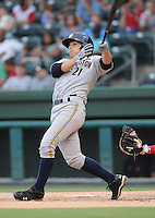 Catcher J.R. Murphy (21) of the Charleston RiverDogs in a game against the Greenville Drive on Aug. 24, 2010, at Fluor Field at the West End in Greenville, S.C. Photo by: Tom Priddy/Four Seam Images