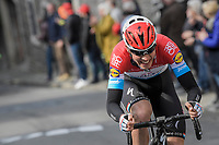 Bob Jungels (LUX/QuickStep Floors) on the attack on the final ascent towards the finish on the Mur de Huy <br /> <br /> 81st La Flèche Wallonne (1.UWT)<br /> One Day Race: Binche › Huy (200.5km)