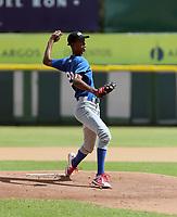 Joalbert Angulo participates in the MLB International Showcase at Estadio Quisqeya on February 22-23, 2017 in Santo Domingo, Dominican Republic.
