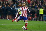 Atletico de Madrid´s Fernando Torres scores a goal during penalty shootouts at the UEFA Champions League round of 16 second leg match between Atletico de Madrid and Bayer 04 Leverkusen at Vicente Calderon stadium in Madrid, Spain. March 17, 2015. (ALTERPHOTOS/Victor Blanco)