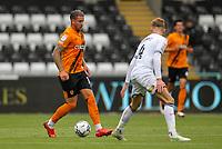 11th September 2021; Swansea.com Stadium, Swansea, Wales; EFL Championship football, Swansea versus Hull City; George Moncur of Hull City brings the ball forward