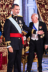 Ambassador of Costa Rica, SRA. Doris Osterlof Obregón present his credentials to King Felipe VI of Spain during royal audiences at Real Palace in Madrid, July 27, 2015. <br /> (ALTERPHOTOS/BorjaB.Hojas)