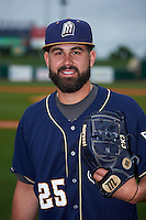 San Antonio Missions pitcher Casey Kelly (25) poses for a photo before a game against the NW Arkansas Naturals on May 31, 2015 at Arvest Ballpark in Springdale, Arkansas.  NW Arkansas defeated San Antonio 3-1.  (Mike Janes/Four Seam Images)