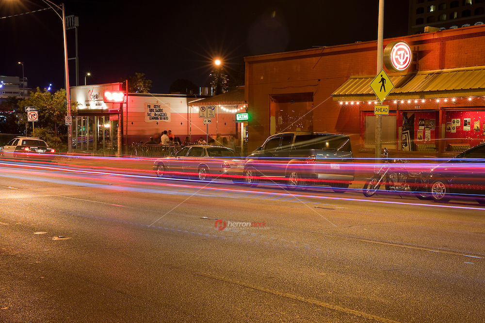 The Red River district extends from Sixth Street to Tenth Street on Red River Street. Known for its alternative music and trendy new clubs. East 7th Street is a popular street for best music, bar, club entertainment in the Red River District.