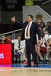 Galatasaray´s coach Ergin Atamanduring 2014-15 Euroleague Basketball match between Real Madrid and Galatasaray at Palacio de los Deportes stadium in Madrid, Spain. January 08, 2015. (ALTERPHOTOS/Luis Fernandez)