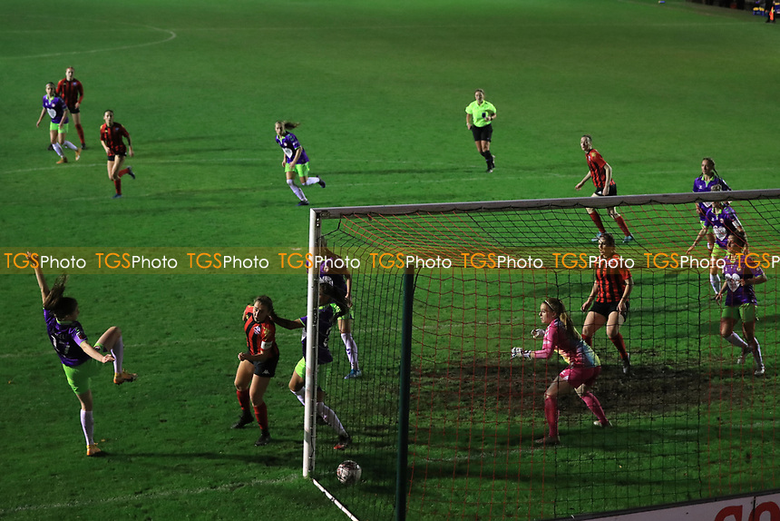 Rhian Cleverly of Lewes pulls one back for Lewes during Lewes Women vs Bristol City Women, FA Women's Continental League Cup Football at The Dripping Pan on 18th November 2020