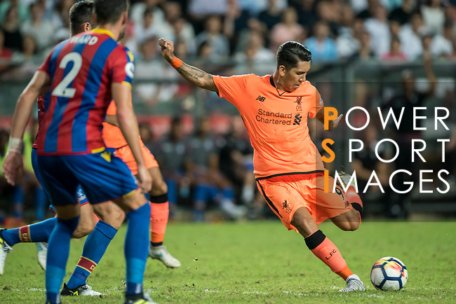 Liverpool FC forward Roberto Firmino (R) in action during the Premier League Asia Trophy match between Liverpool FC and Crystal Palace FC at Hong Kong Stadium on 19 July 2017, in Hong Kong, China. Photo by Weixiang Lim / Power Sport Images