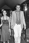CHRISTIAN DE SICA CON SILVIA VERDONE<br /> FESTA PER I 30 ANNI DI HELMUT BERGER JACKIE O' ROMA 1974