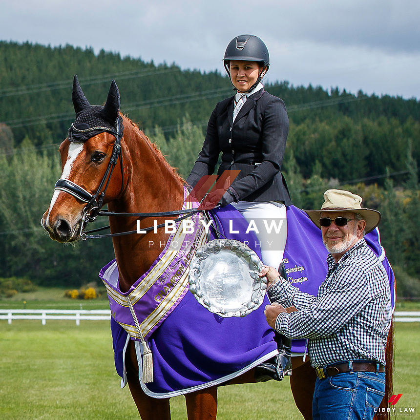 ADVANCED MEDIUM - BATES NATIONAL CHAMPIONSHIP: Casey Burton rides Fanfare MH.<br /> RESERVE: Haydee Wells-Parmenter rides Foxleigh Mr Darcy. 2020 NZL-Bates Saddles NZ Dressage Championships. NEC Taupo. Sunday 22 November 2020. Copyright Photo: Libby Law Photography