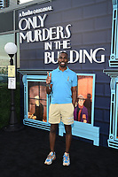"""NEW YORK CITY - AUG 24: DeRay McKesson attends the screening of Hulu's """"Only Murders in the Building"""" at The Greens at Pier 17 on August 24, 2021 in New York City. (Photo by Frank Micelotta/Hulu/PictureGroup)"""