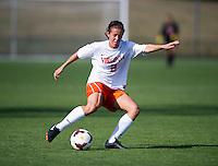 Kate Norbo (2) of Virginia crosses the ball at Klockner Stadium in Charlottesville, VA.  Virginia defeated Clemson, 3-0.