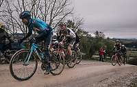 Alejandro Valverde (ESP/Movistar)<br /> <br /> 12th Strade Bianche 2018<br /> Siena > Siena: 184km (ITALY)