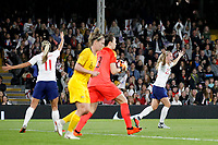 Beth Mead of England Women has her appeal fall on deaf ears during the Women's international friendly match between England Women and Australia at Craven Cottage, London, England on 9 October 2018. Photo by Carlton Myrie / PRiME Media Images.