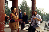 China, Peking, klassische Musik in Park bei Chongwenmen-Straße