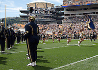 Pitt takes the field in their first home game of the year. The Pittsburgh Panthers defeat the New Hampshire Wildcats 38-16 at Heinz Field, Pittsburgh Pennsylvania on September 11, 2010.