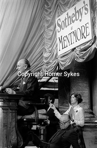 Sothebys at Mentmore Towers. Sothebys auction the contents of this stately home belonging to the 7th Earl of Rosebery.  1977... Auctioneer Peter Wilson.