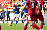 Aberdeen v St Johnstone…18.09.21  Pittodrie    SPFL<br />Callum Booth shoots over the bar<br />Picture by Graeme Hart.<br />Copyright Perthshire Picture Agency<br />Tel: 01738 623350  Mobile: 07990 594431