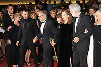 MATHIEU KASSOVITZ, JEAN-LOUIS TRINTIGNANT, ISABELLE HUPPERT AND DIRECTOR MICHAEL HANEKE - RED CARPET OF THE FILM 'HAPPY END' AT THE 70TH FESTIVAL OF CANNES 2017