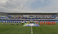 CALI - COLOMBIA, 07-12-2020: América de Cali y Millonarios F.C. en partido por la semifinal vuelta como parte de la Liga Femenina BetPlay DIMAYOR 2020 jugado en el estadio Pascual Guerrero de la ciudad de Cali. / America de Cali and Millonarios F.C. in second leg semifinal match as part of Women's BetPlay DIMAYOR 2020 League played at Pascual Guerrero stadium in Cali. Photo: VizzorImage / Gabriel Aponte / Staff