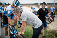 reconnaissance of the (delayed, due to the Covid19 pandemic) Paris-Roubaix course by Team Israel - StartUp Nation <br /> <br /> Nord-Pas de Calais region (FRA), 17 july 2020<br /> ©kramon