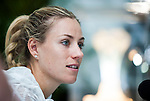 Angelique Kerber of Germany attends a press conference after her Singles Round 1 match at the WTA Prudential Hong Kong Tennis Open 2016 at the Victoria Park Tennis Stadium on 11 October 2016 in Hong Kong, China. Photo by Marcio Rodrigo Machado / Power Sport Images